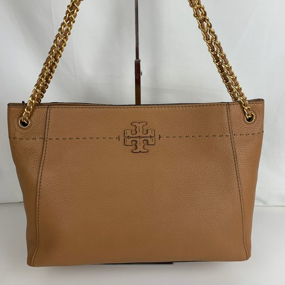 New Tory Burch McGraw Slouchy Leather Tote